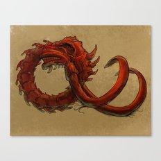 Bio-Elephant Skull Canvas Print