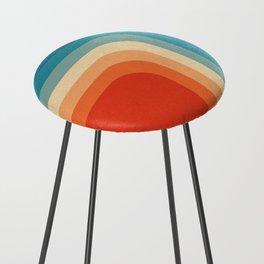 Retro 70s Color Palette III Counter Stool