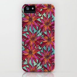 Floral Pattern Conquer iPhone Case