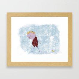 Friend & Duck Framed Art Print