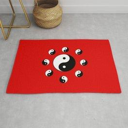 Yin and Yang 15- Tao,Zen,Taoism,Dao,Harmony,religion,buddhism,buddhist,taijitu,taiji,taoist,china Rug