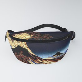 The GREAT Wave Midnight Blue Brown Fanny Pack