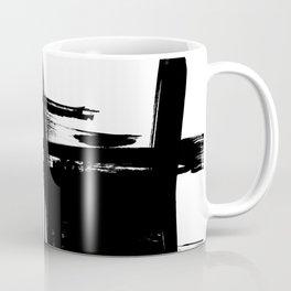 Black Brush Strokes Modern Minimalist Abstract Painting Art, nr 12 Coffee Mug