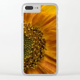 Sunflower in red Clear iPhone Case
