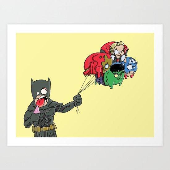 Heroes day off Art Print