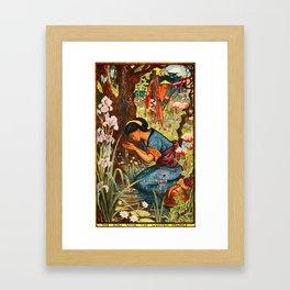 The Girl with the Wooden Helmet Framed Art Print