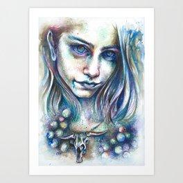 Blueberry Binge Art Print