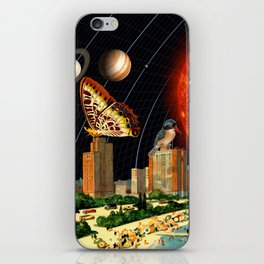vacation on the other side of the solar system iPhone Skin