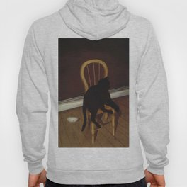 Black Cat on a Chair - Andrew L. von Wittkamp 1850-1875 Hoody