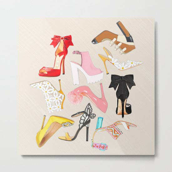 Shoes Full Time Love Metal Print