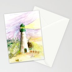 Lighthouse At Dusk Stationery Cards