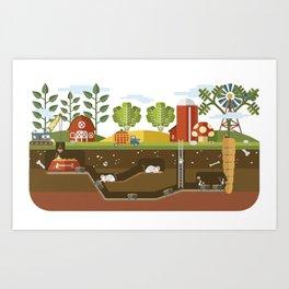 Big Garden, Little People Art Print