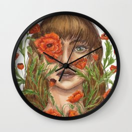 Floral Faces - Hide and Seek  Wall Clock