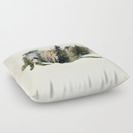 Wolf is the Pride of Nature Floor Pillow