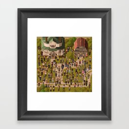 Super Walking Dead: Farm Framed Art Print