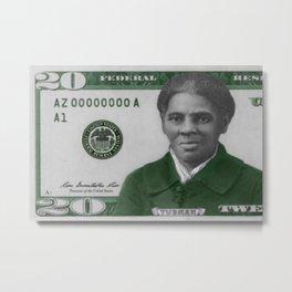 Proposed African American Icon Harriet Tubman Single U.S. Mint 20 Dollar bill Metal Print