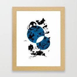 Blue & Black Framed Art Print