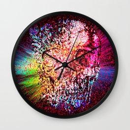 Mozaik Skull Pattern Wall Clock