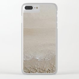 Sand Dreams - Original Art Textured Painting by Tracy Sayers Trombetta Clear iPhone Case