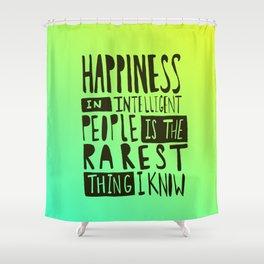 Hemingway: Happiness Shower Curtain