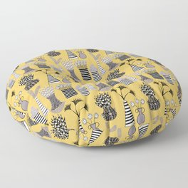 Vases and Stripes Floor Pillow
