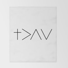 God is greater then the highs and the lows Throw Blanket