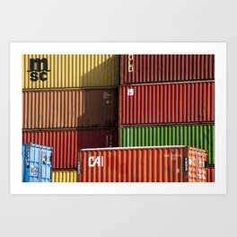 Pointe St. Charles Shipping Containers Art Print