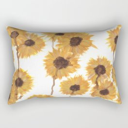 Tearful Sunflowers Rectangular Pillow