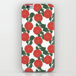Red Dahlia iPhone Skin