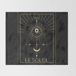 Le Soleil or The Sun Tarot Throw Blanket