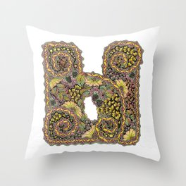 Cyrillic letter Ы Throw Pillow