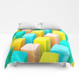 Color Blocking Pastels Comforters