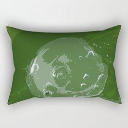 Waterdrop on Green Rectangular Pillow