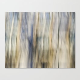 Soft Blue and Gold Abstract Canvas Print