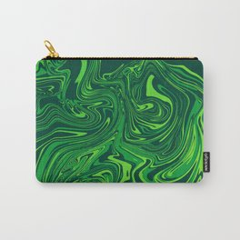 Green emerald abstract marble Carry-All Pouch