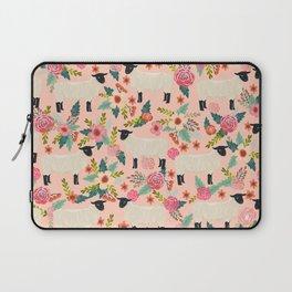 Sheep farm rescue sanctuary floral animal pattern nature lover vegan art Laptop Sleeve