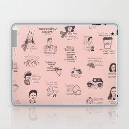 Gilmore Girls Quotes in Pink Laptop & iPad Skin