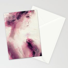 _the pink girl Stationery Cards