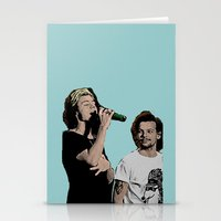 larry stylinson Stationery Cards featuring Pop Art Larry Stylinson  by JodiYoung