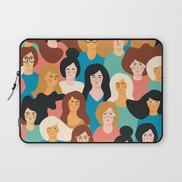 CUTE ALL-OVER WOMENS MARCH PATTERN Laptop Sleeve