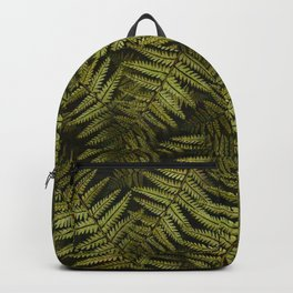 Among the ferns in the forest (military green) Backpack