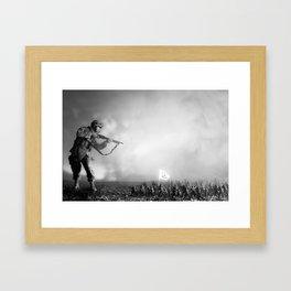 Peace Army print Framed Art Print