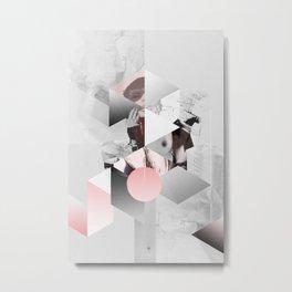 Geometric woman PINK Metal Print