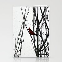 cardinal Stationery Cards featuring Cardinal by Emma Nettles