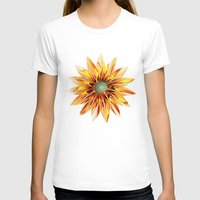 sunflower T-shirts featuring Sunflower by Klara Acel