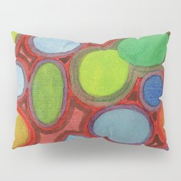 Abstract Moving Round Shapes Pattern Pillow Sham