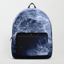 Crab Nebula Icy Dark Blue Backpack