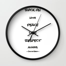 my life mantra Wall Clock