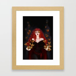 Isabella the red witch Framed Art Print