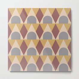 Elegant Art Deco Geometric Pattern 315 Metal Print